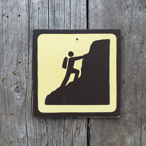 "Park Icon Sign ""Mountain Climber"" 