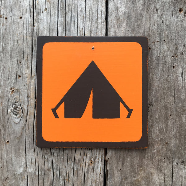 "Park Camping Icon Sign ""Tent"" 