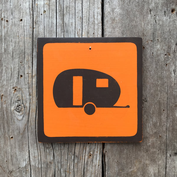 "Park Camping Icon Sign ""Trailer"" 