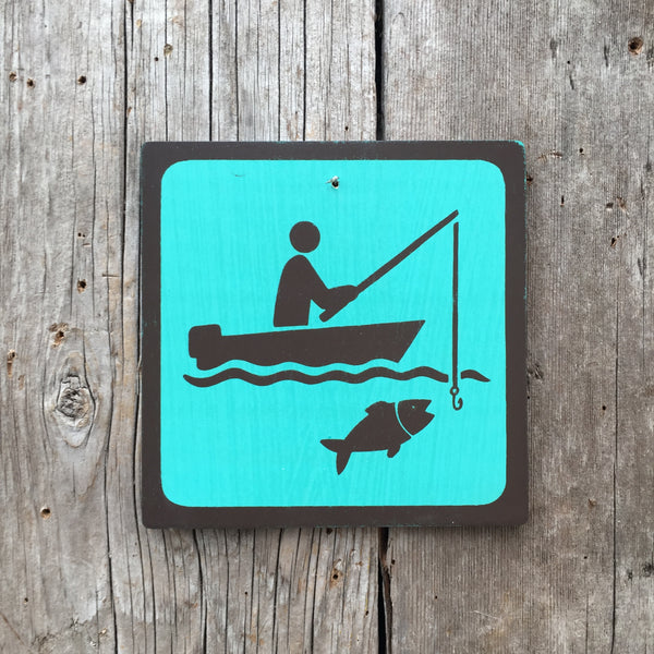 "Park Icon Sign ""Fishing Boat"" 