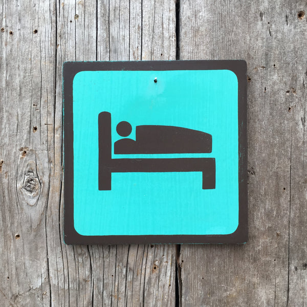 "Park Icon Sign ""Sleep"" 