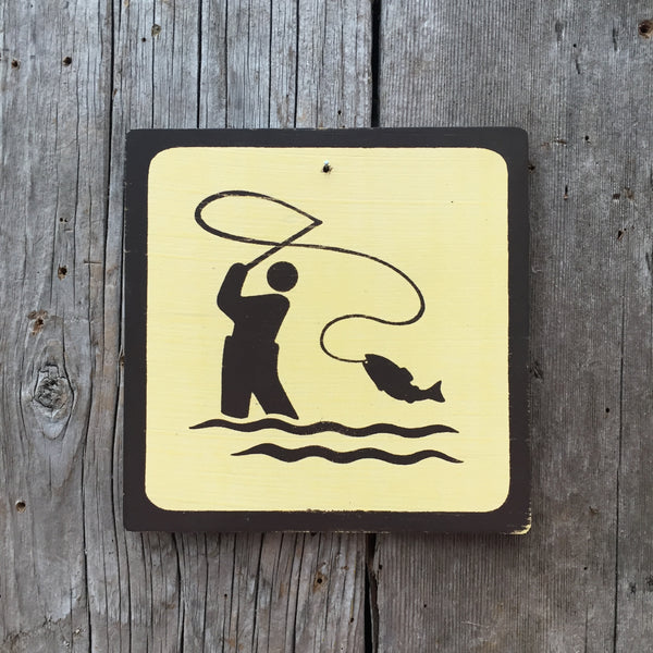"Park Icon Sign ""Fly Fishing"" 