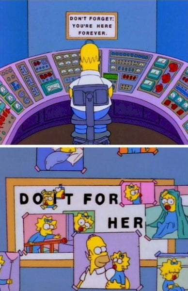 Simpsons dont forget sign