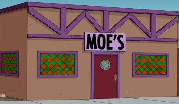 Simpsons moes tavern sign