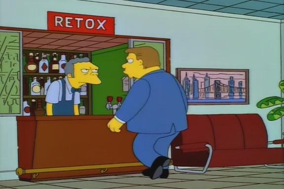 "The Simpsons ""Retox"" Sign 