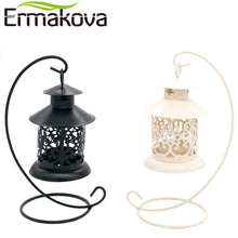 ERMAKOVA Vintage Metal European Candlestick Candle Lantern with Candle Stand/Wedding Home Decor