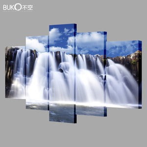 Five Piece Canvas Art Mountain Painting/Wall Decor