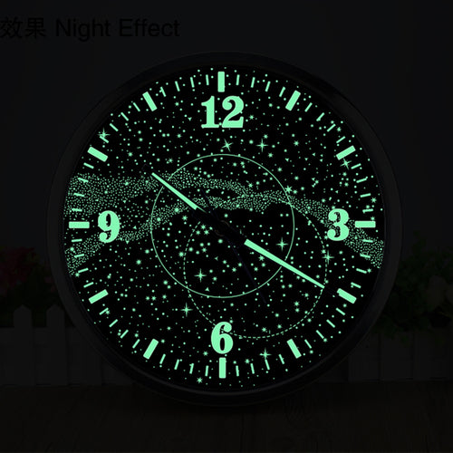 14 Inch Galaxy Luminous Wall Clock/Cafe Personality Loft Industrial Wind Retro Watch
