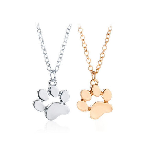 Cute cat paw metal necklace