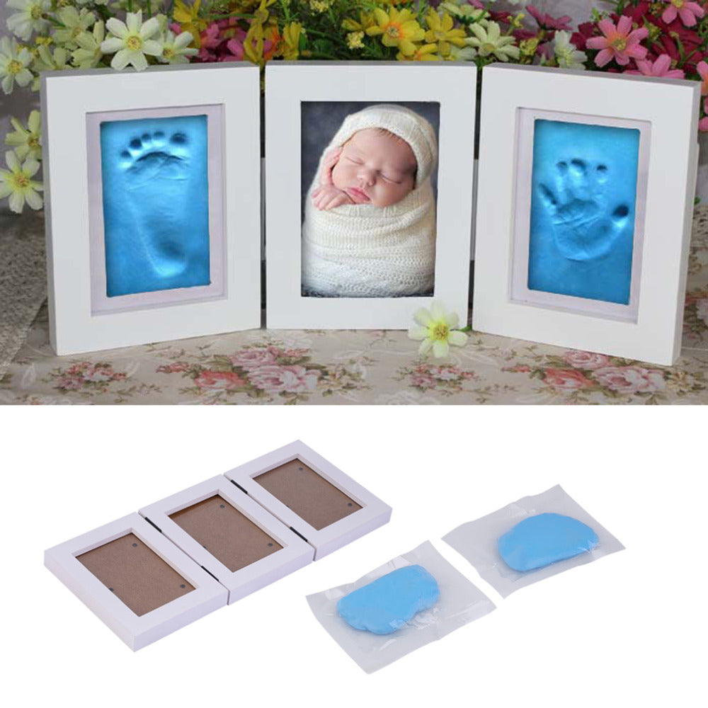Cute Baby Photo Frame/DIY Handprint or Footprint
