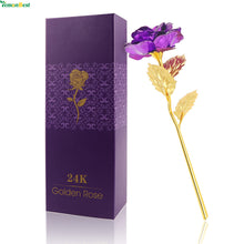 24k Gold Foil Plated Rose Dipped Artificial Flower