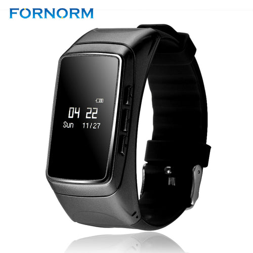 FORNORM 2 in 1 Wristband Sports Smart Bracelet + Bluetooth Earphone Fitness Tracker Heart Rate Monitor Pedometer Hands-free call
