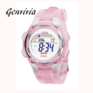 Genvivia 2017 New Arrival Children Boys Girls Sports Digital Waterproof Wrist Watch New kid watch children