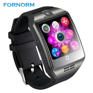 FORNORM Bluetooth Smart Watch Q18 Pedometer for Android Phone Support SIM SD Card Wristwatch Sport Watch