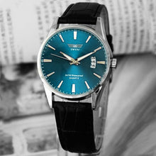Luxury Black Leather Strap Calendar Quartz Mens Date Wrist Watch