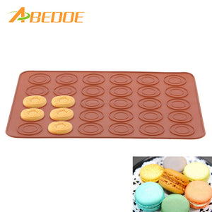 ABEDOE Macaroon Silicone Pot Cake Decorating Pastry Tool/DIY Food Grade Silicone Mold Baking Tool