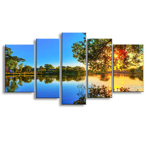 Five Piece Print Lake Landscape/Wall Decor