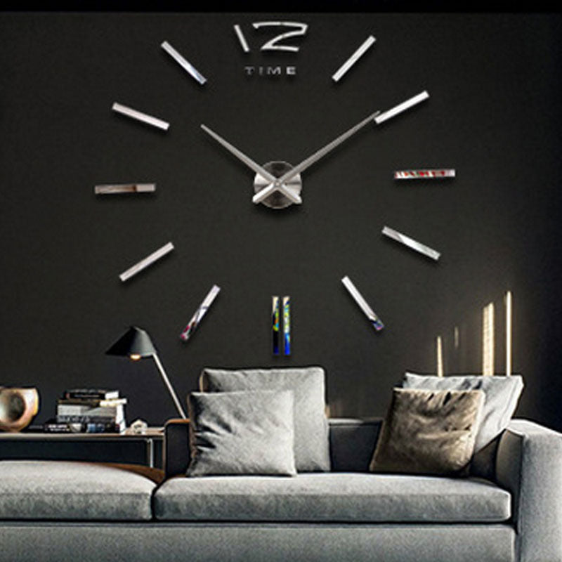 Creative DIY 3D Digital Wall Clock/Big Luxury Modern Pointer Clock
