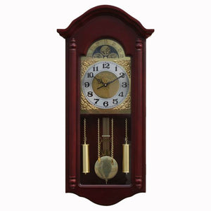 Big Sitting Room Old Rural Solid Wood Mute Quartz Wall Clock 8 INCH
