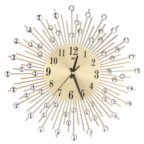 3D Wall Clock Diamonds Decorative Clock/Quiet Quartz Clock