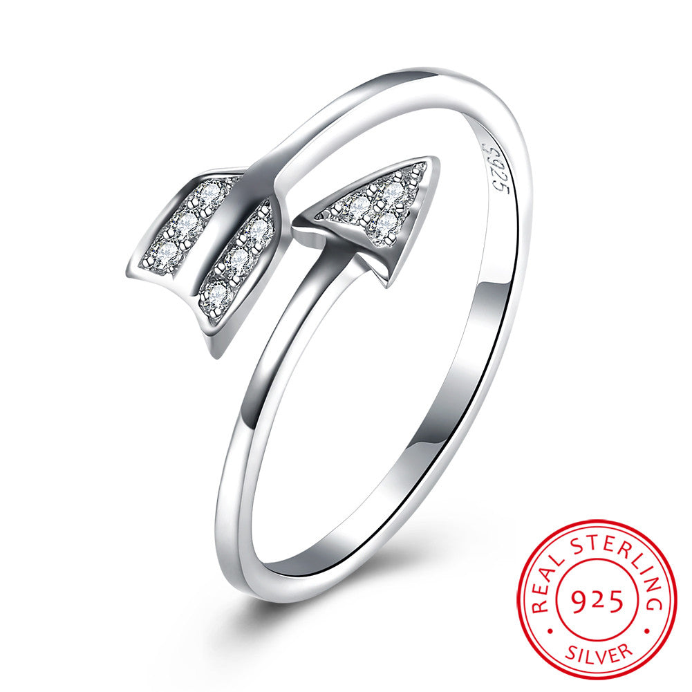 925 Sterling Silver Ring Stone one Arrow opening Ring Jewelry Wholesale
