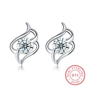 Sterling Silver Fashion Trend Stud Earrings