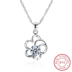 Sterling Silver Necklace Fashion Zircon Necklace Boutique