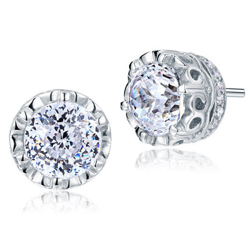 1.5 Carat Vintage Style Stud 925 Sterling Silver Earrings Jewelry