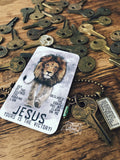 out of the silence the Roaring Lion declared the grave has no claim on me Jesus Yours is the victory #TheAdoptShoppecard