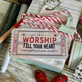 let worship fill your heart red/pink ticket #TheAdoptShoppecard