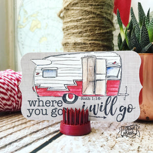 where you go I'll go vintage camper #TheAdoptShoppecard (red)