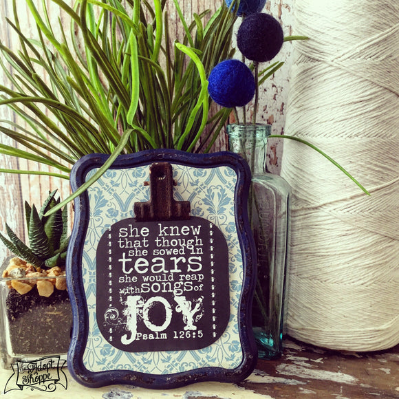 sow in tears - reap with songs of joy #TheAdoptShoppecard