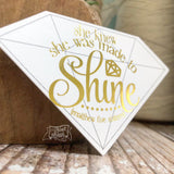 diamond shaped shine gold foil #TheAdoptShoppecard