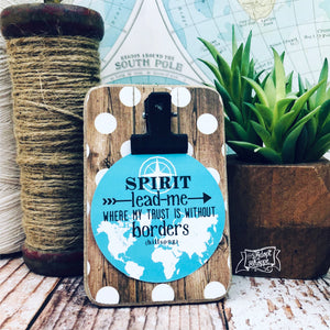 Spirit lead me where my trust is without borders (turquoise) #TheAdoptShoppecard