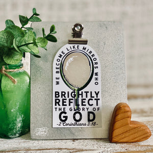 mirrors who brightly reflect the glory of God (silver foil) #TheAdoptShoppecard