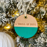 leather ornament A THRILL OF HOPE (matte turquoise)