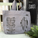 children are a blessing grey fair trade tote bag
