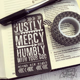 act justly // love mercy // walk humbly Micah 6:8 #TheAdoptShoppecard