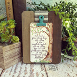 clip easel stand (wood + tin) + #TheAdoptShoppecard(s) bundle