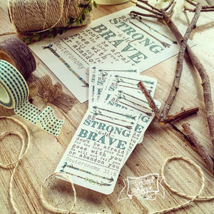 strong & brave (teal) #TheAdoptShoppecard