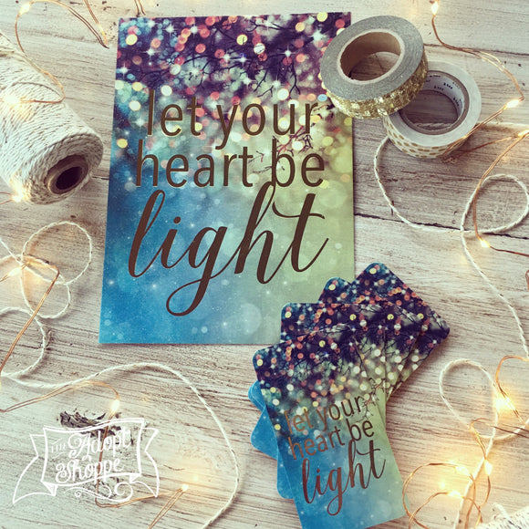 let your heart be light CHRISTMAS gold foil 5