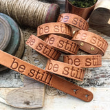 be still (camel/natural) leather cuff