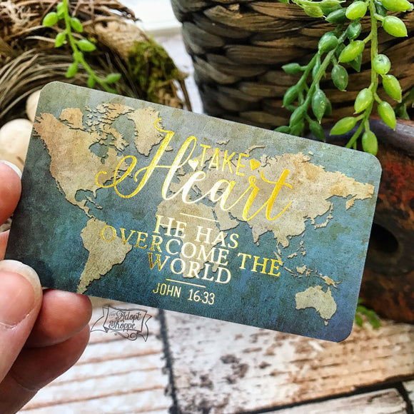 take heart gold foil #TheAdoptShoppecard (rectangle)