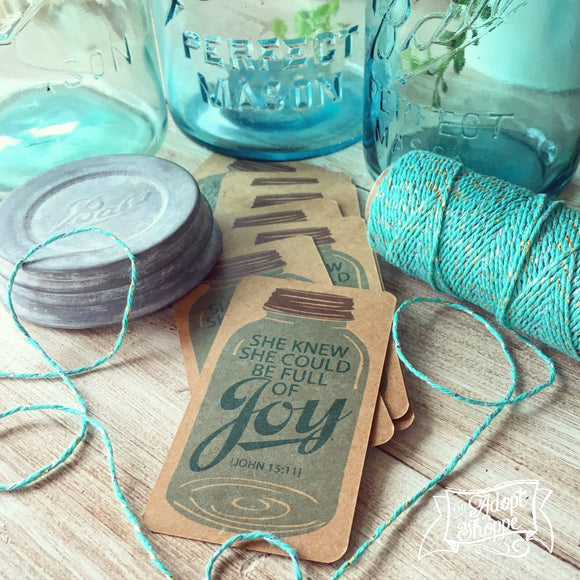 full of joy mason jar #TheAdoptShoppecard (kraft)