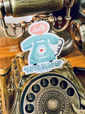 as soon as I called, You answered me vintage telephone (Psalms 138:3) sticker