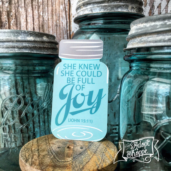 full of joy mason jar #TheAdoptShoppecard (shaped)
