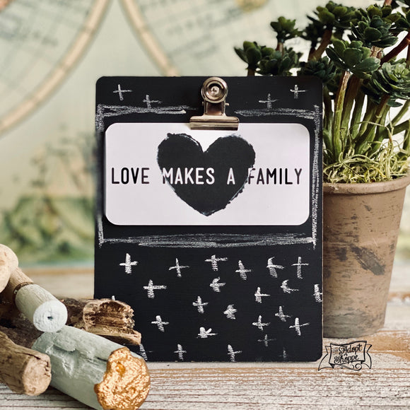 love makes a family #TheAdoptShoppecard