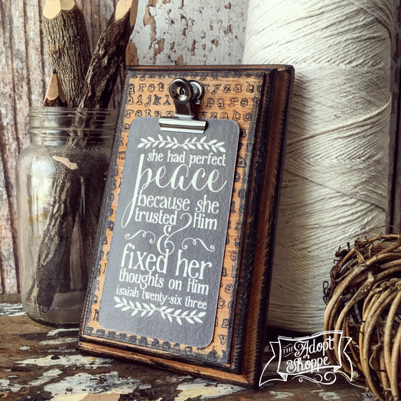 perfect peace #TheAdoptShoppecard