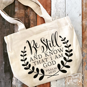 be still fair trade tote bag