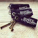 hope is my anchor navy fair trade key fob